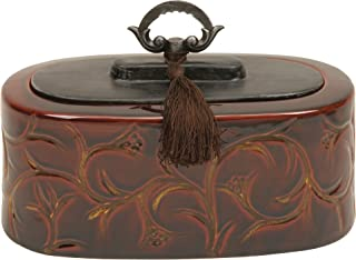Deco 79 Ceramic Container with Decorative Handle