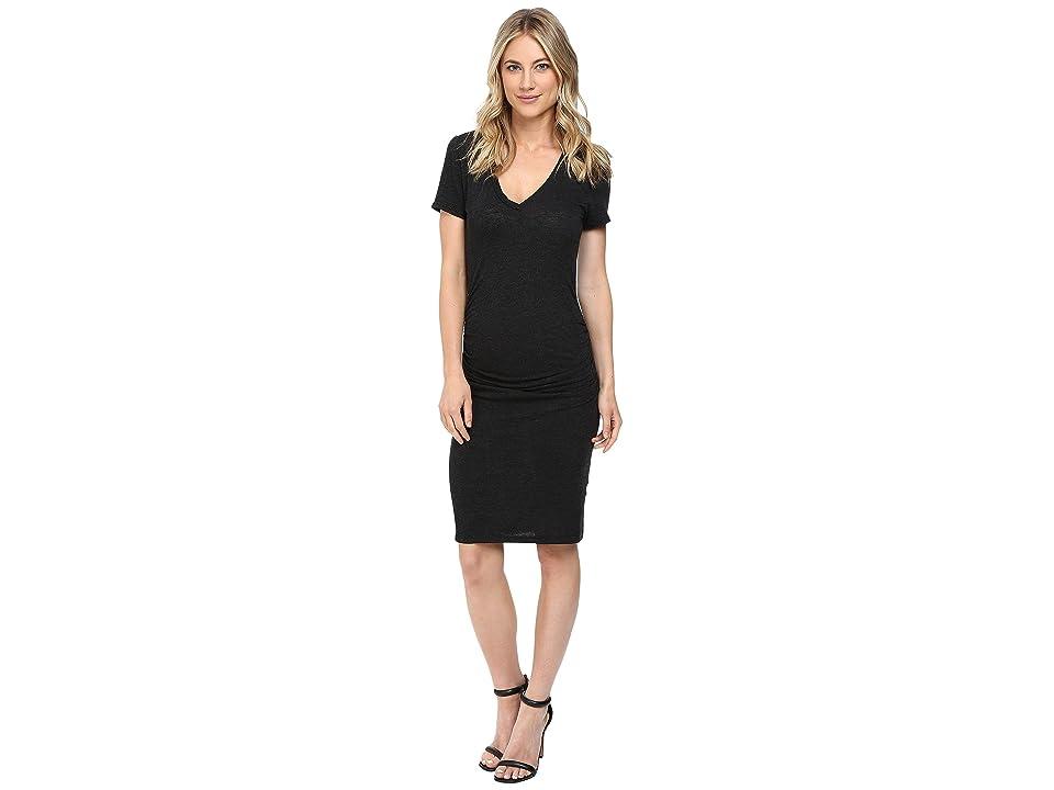 Lanston Ruched T-Shirt Dress (Black) Women