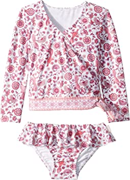 Bohemian Jardin Long Sleeve Ballet Rashie Set (Toddler/Little Kids)