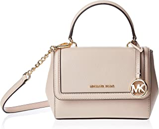 Michael Kors Jet Set Extra-Small Crossgrain Leather Crossbody Bag for Women-Pink