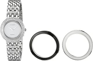 Citizen Women's Eco-Drive Stainless Steel Watch with Crystal Accents, EM0260-67A