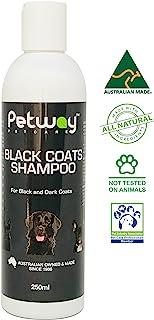 PETWAY Petcare Black Coat Shampoo - Natural Pet Shampoo for Animals with Black or Dark Coats, pH Balanced Biodegradable Do...