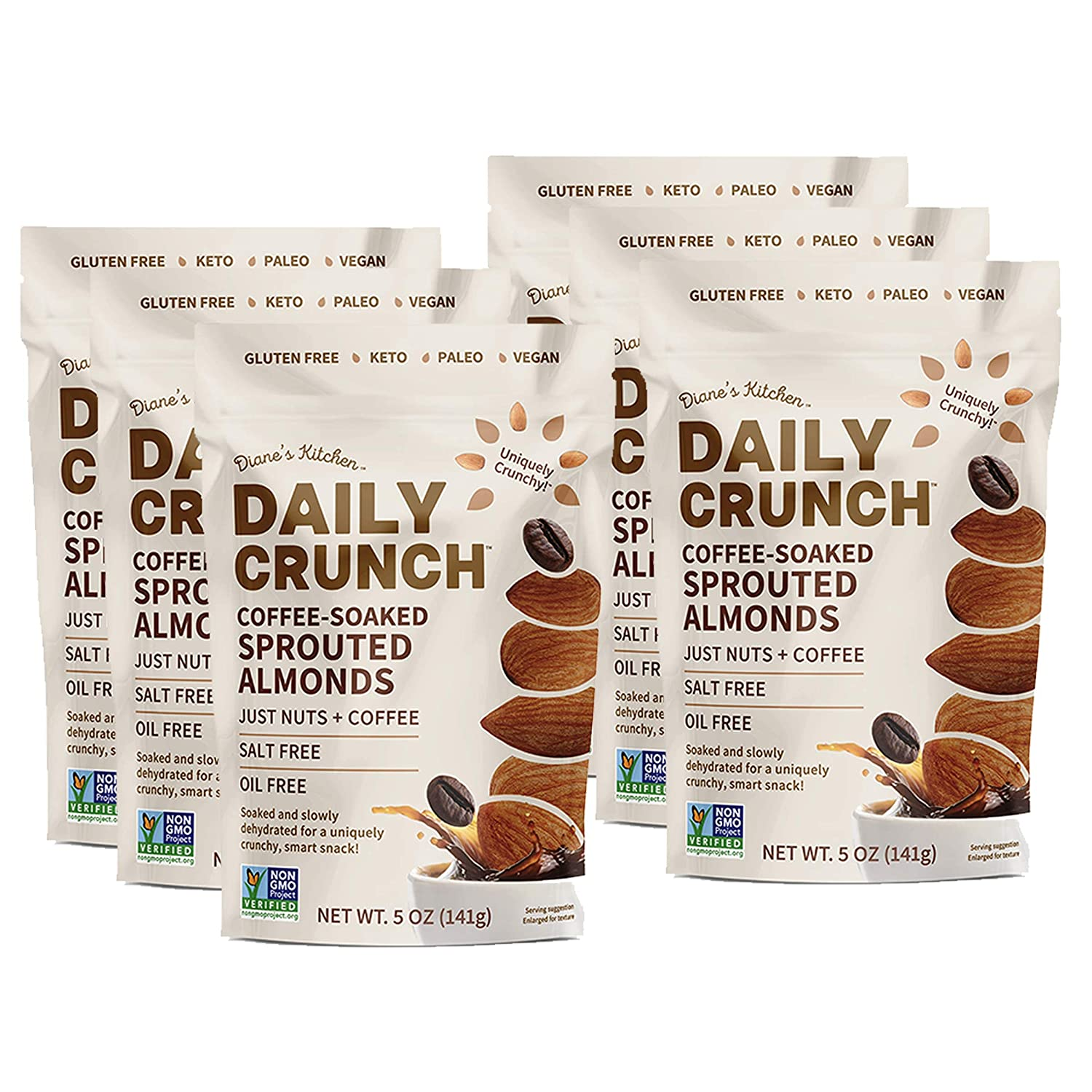 Daily Crunch Sprouted Almonds Coffee Resealable Soaked San Diego Mall Ounce Charlotte Mall 5
