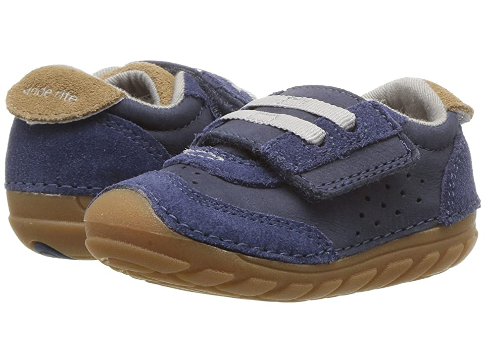 Stride Rite SM Wyatt (Toddler/Little Kid) (Navy Leather) Boys Shoes