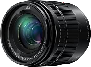 PANASONIC LUMIX G VARIO LENS, 12-60MM, F3.5-5.6 ASPH., MIRRORLESS MICRO FOUR THIRDS, POWER OPTICAL I.S., H-HS12060 (Renewed)