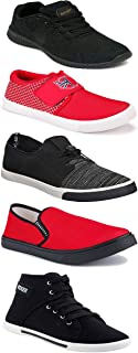 Shoefly Sports Running Shoes/Casual/Sneakers/Loafers Shoes for Men&Boys (Combo-(5)-1219-1221-1140-303-1015)