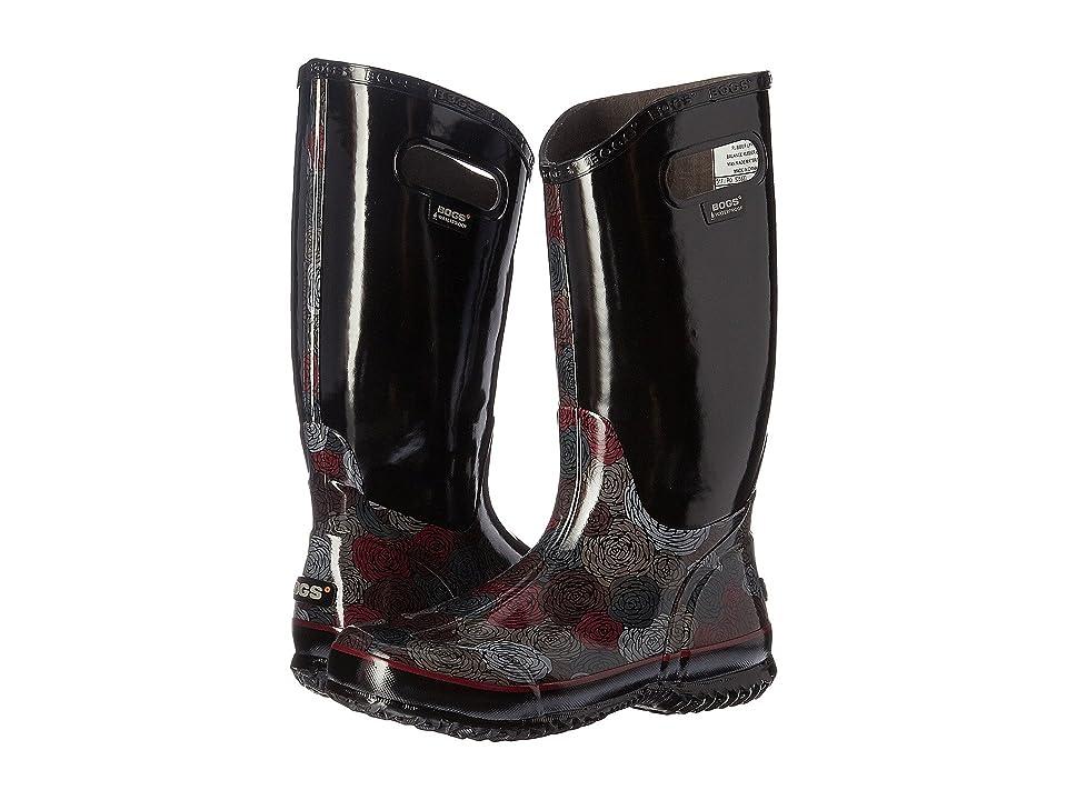 Bogs Rain Boot Rosey (Black Multi) Women