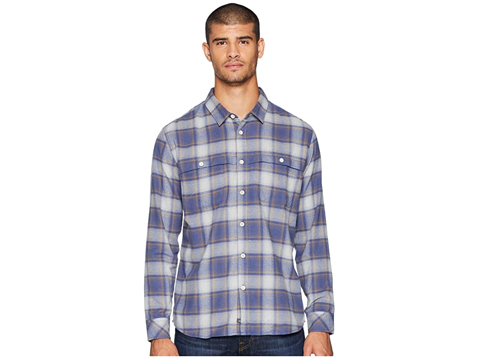 Quiksilver Waterman Cente Marche Long Sleeve Flannel Shirt (Drizzle) Men