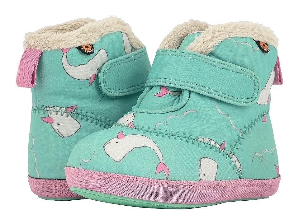 Bogs Kids Elliot Whale (Infant/Toddler) (Mint Green Multi) Girl