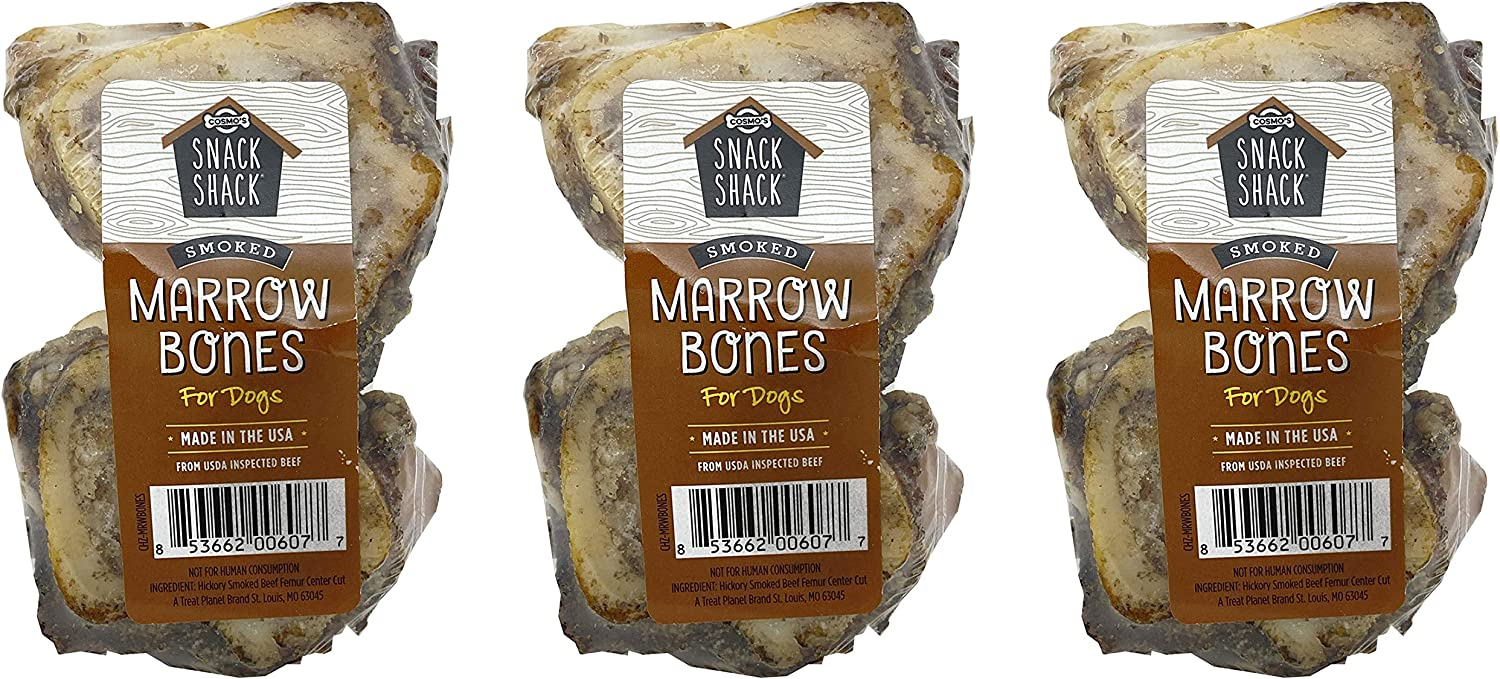 Cosmo's Snack Shack Max 44% OFF Smoked Marrow Bones Dogs Pack 3 †of Mail order for