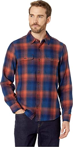Indigo Flannel Slim Long Sleeve Shirt