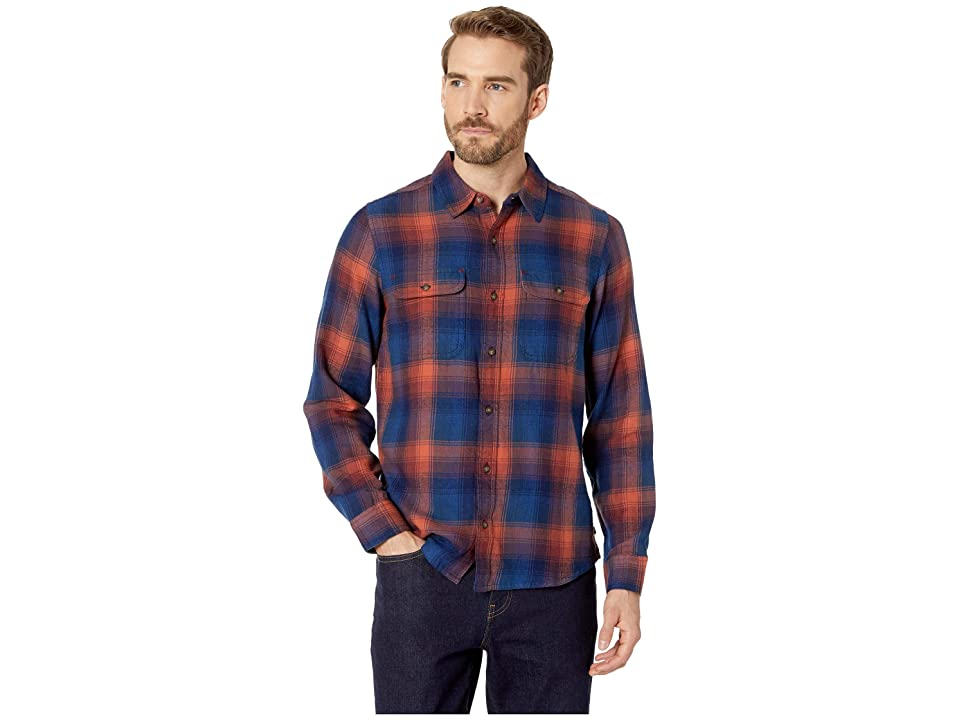 Toad&Co Indigo Flannel Slim Long Sleeve Shirt (Burnt Orange) Men