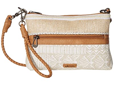 Sakroots Artist Circle Campus Mini (White Tribal Brave Beauti) Cross Body Handbags