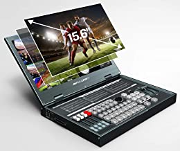 AVMATRIX PVS0615 6CH Multi-Format Video Switcher Portable All-in-One Design with 15.6 inch FHD LCD Display 6 Channel inputs: 4×SDI and 2×DVI-I/HDMI/VGA/USB