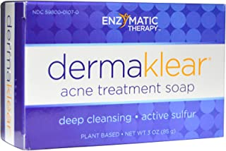 Enzymatic Therapy - DermaKlear Akne Treatment Soap with Sulphur, 3 oz (Pack of 2)