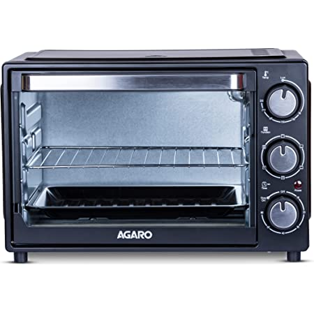 AGARO Premium Grand 30-Litre Oven Toaster Grill with 5 Heating Modes, Moterised Rotisserie & Convection Function, Black