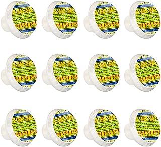 Boutons D'armoire 12 Pcs Poignés Poignée De Champignons Porte Poignées avec Vis pour Cabinet Tiroir Cuisine,Motifs égyptie...