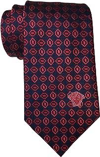 Versace Navy Red Medlalion Tie