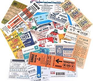 29 Pieces Vintage Tickets Designs Waterproof Stickers for Laptop, Luggage, Junk Bullet Journal, Scrapbook Craft, Water Bottles, Skateboard, Guitar