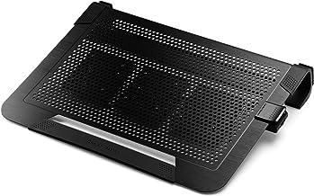 Cooler Master Notepal U3 Plus Aluminium Notebook Cooler with Moveable Fans - Black - R9-NBC-U3PK-GP
