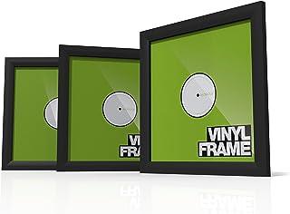 """Glorious Vinyl Frame Set Black - 3x Vinyl Cover Frame voor 12"""" platen, eenvoudig aanbrengen en vervangen, verstelbare houd..."""