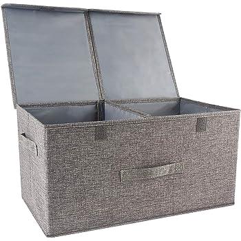 Organizador de ropa cajas de almacenamiento con separadores extraíbles,caja de almacenamiento de ropa con espacio de gran tamaño: Amazon.es: Hogar