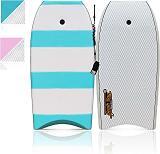 "South Bay Board Co. - 42"" Bodyboard - Premium Beginner Body Board - Durable, Lightweight Body Board with EPS Core, Smooth Top Deck and Slick HDPE Bottom Deck"