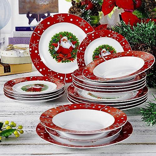 Christmas Plate Set.Christmas Dinner Plate Amazon Co Uk