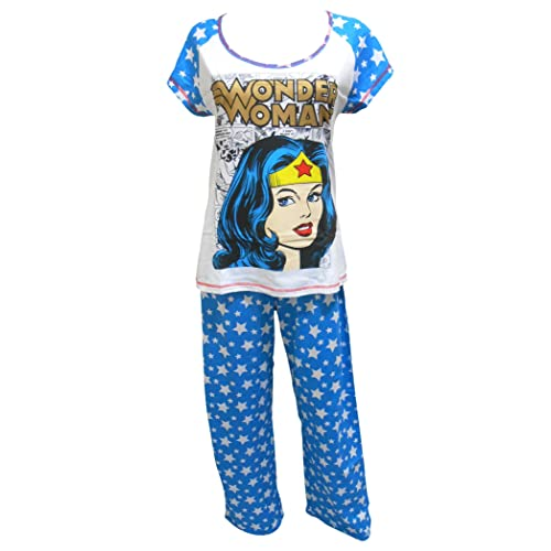 8d7d6e2581 Womens Wonder Woman DC Comics T-Shirt Top Long Pyjamas Plus Sizes from 8 to