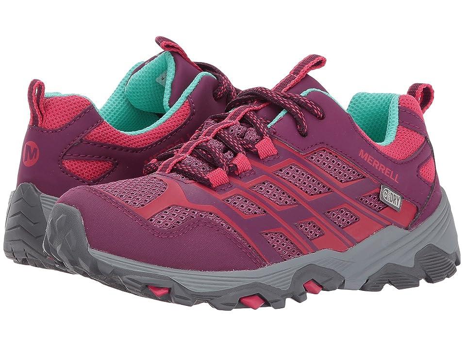 Merrell Kids Moab FST Low Waterproof (Little Kid) (Berry) Girls Shoes