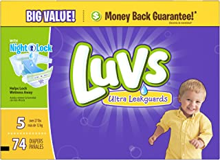 Luvs Ultra Leakguards Diapers - Size 5 - 74 ct