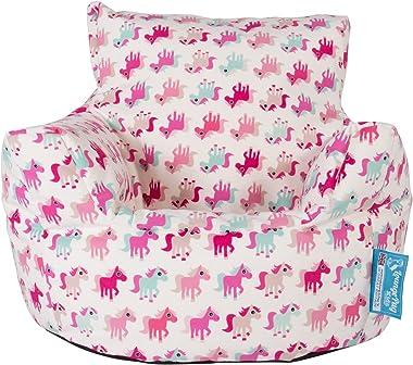 Lounge Pug®, Fauteuil Enfant, Pouf Enfant, Imprimé Petit Poney