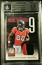 Demaryius Thomas 2013 Panini Elite Prime Numbers Jersey Broncos BGS 8.5 - Panini Certified - Football Game Used Cards