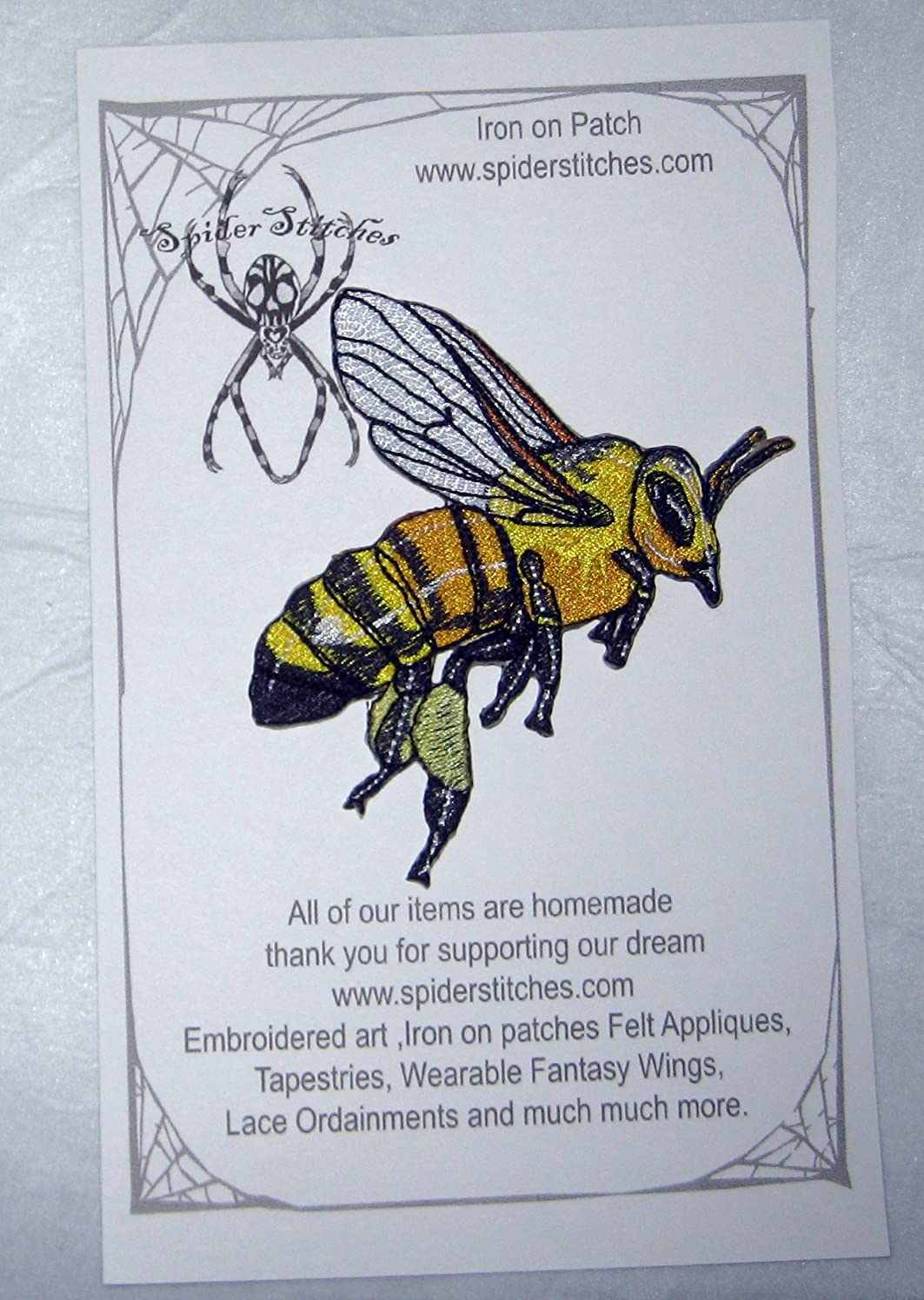 Epic Honey Bee Worker Apis Mellifera Iron on Patch Beekeeping bee Keeper Real