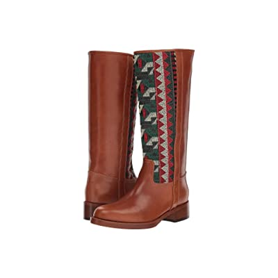 Etro Embroidered Tall Boot (Camel) Women