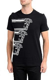 Collection Men's Black Graphic Crewneck T-Shirt Sz US M IT 50