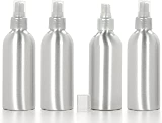 Hosley Set of 4 Poo Aromatherapy Spray Bottle with Sprayer Empty 6 Ounce. Great for Aromatherapy Storing Essential Oils DIY Diffusers Craft Projects Wedding Party Room Sprays O8