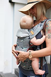Gemini Performance Baby Carrier by Beco - Flamingo - Multi-Position Soft Structured Sling w/Adjustable Straps & Comfort Padding for Infant/Toddler Hip Support with Pocket