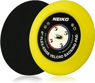 Neiko 30267A Flexible Edge Hook and Loop PU Backing Pad for DA Sander Polisher Buffer   6-Inch, 10,000 RPM, 5/16