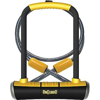 ONGUARD OnGuard U Lock Hardened Steel Bonus Light Up Key X2 Security Level 5 NEW