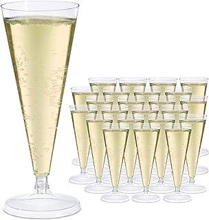 Relaxdays Champagneglas plast, uppsättning av 24, återanvändbara champagneglas 0,1 l, okrossbart, återanvändbart glas, H x...