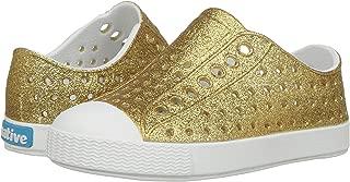 Native Kids Girls' Jefferson Bling Child-K Slip-On,Gold Bling Glitter/Shell White,C4 M US Toddler