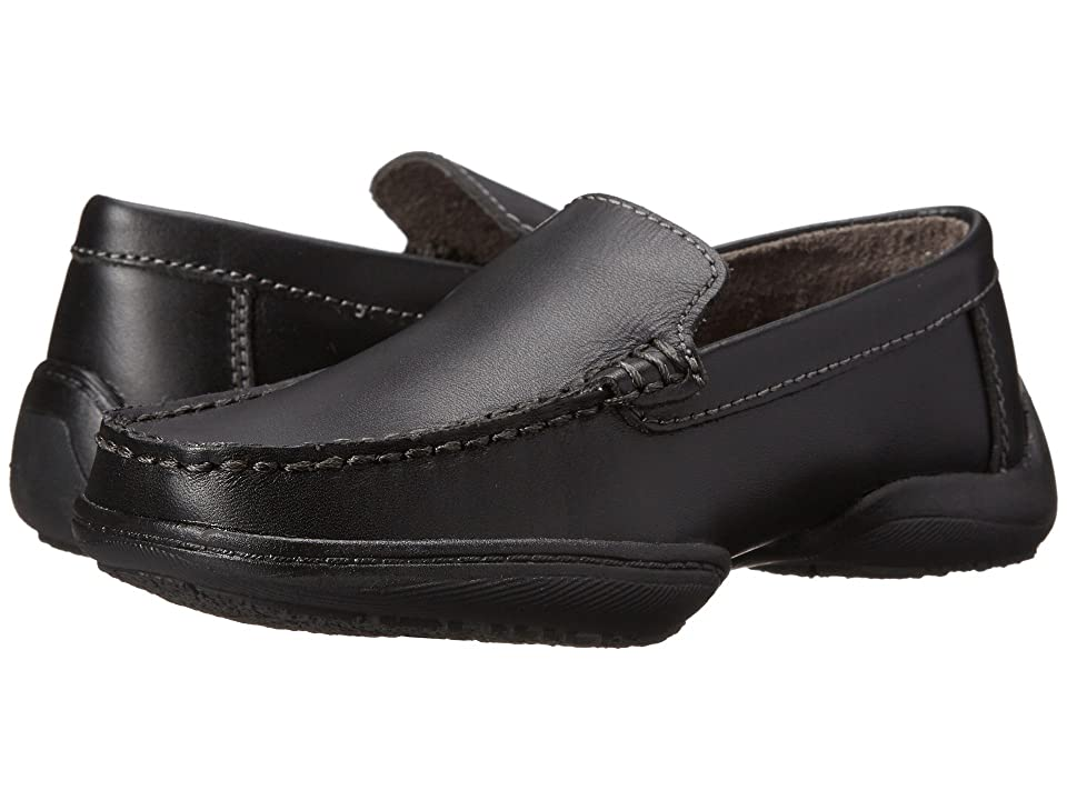 Kenneth Cole Reaction Kids Driving Dime (Little Kid/Big Kid) (Black Leather) Boys Shoes
