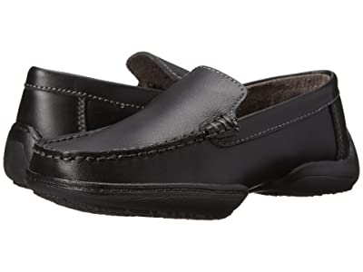 Kenneth Cole Reaction Kids Driving Dime (Little Kid/Big Kid) (Black Leather) Boys Shoes