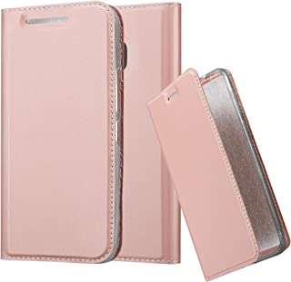 Cadorabo Book Case Works with HTC One M9 in Classy ROSÉ Gold – with Magnetic Closure, Stand Function and Card Slot – Wallet Etui Cover Pouch PU Leather Flip