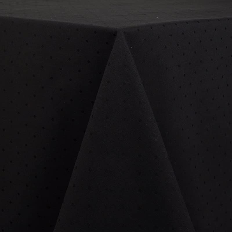 Kate Spade Larabee Dot Tablecloth 90 Inch Round Black