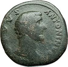 161 IT ANTONINUS PIUS 161AD Rome Sestertius Big Authenti Sestertius Good