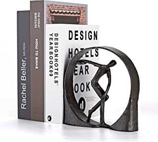 Decorative Bookend. Table and Shelf Decoration Statue. Olympic Athlete Theme. Super Heavy. Satin Black