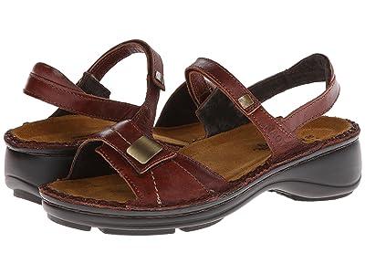 Naot Papaya (Luggage Brown Leather) Women