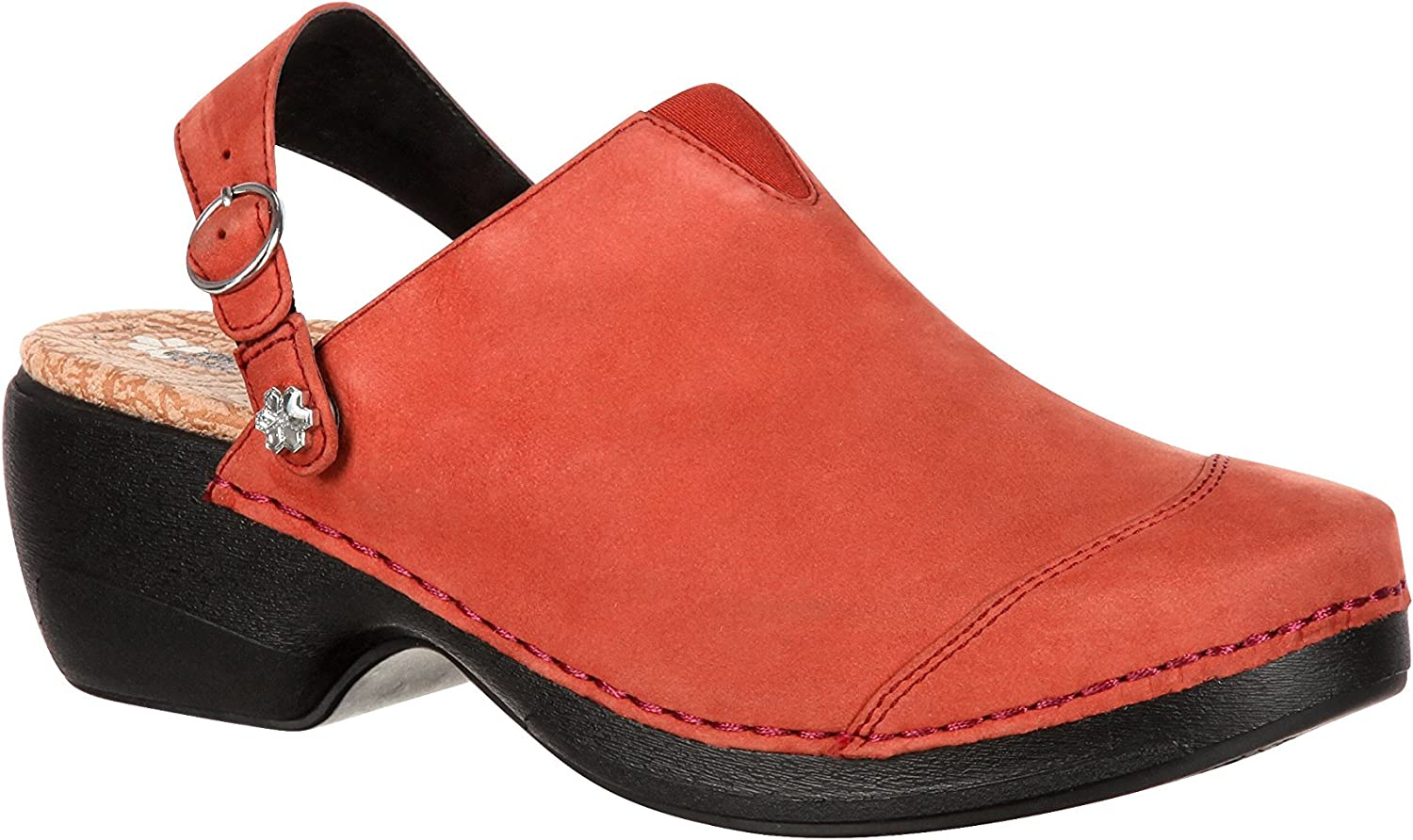 Rocky 4EurSole Inspire Me Women's Studded Leather Clog-RKYH041 (M42) Brown